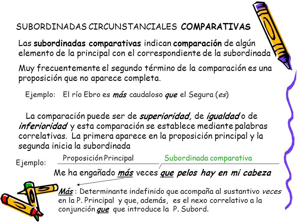 SUBORDINADAS CIRCUNSTANCIALES COMPARATIVAS