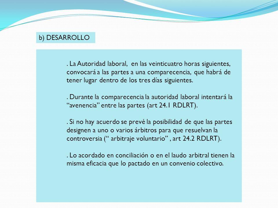 b) DESARROLLO