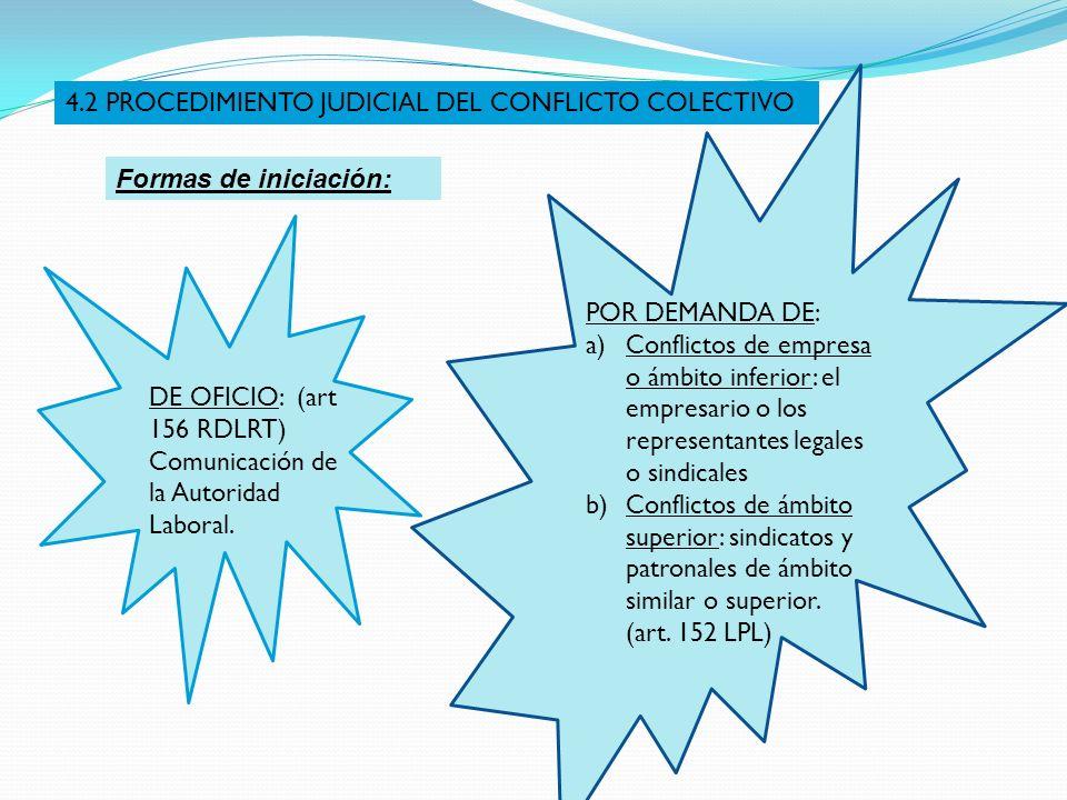 4.2 PROCEDIMIENTO JUDICIAL DEL CONFLICTO COLECTIVO