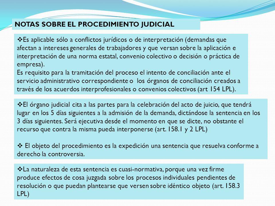 NOTAS SOBRE EL PROCEDIMIENTO JUDICIAL