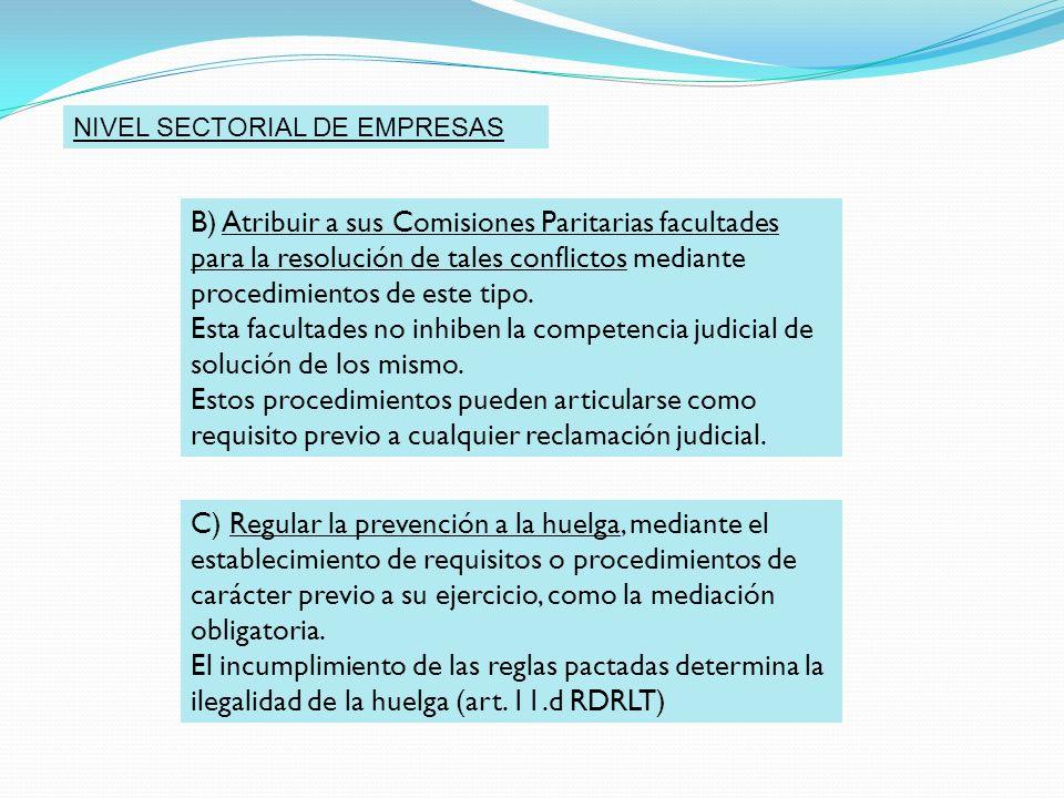 NIVEL SECTORIAL DE EMPRESAS