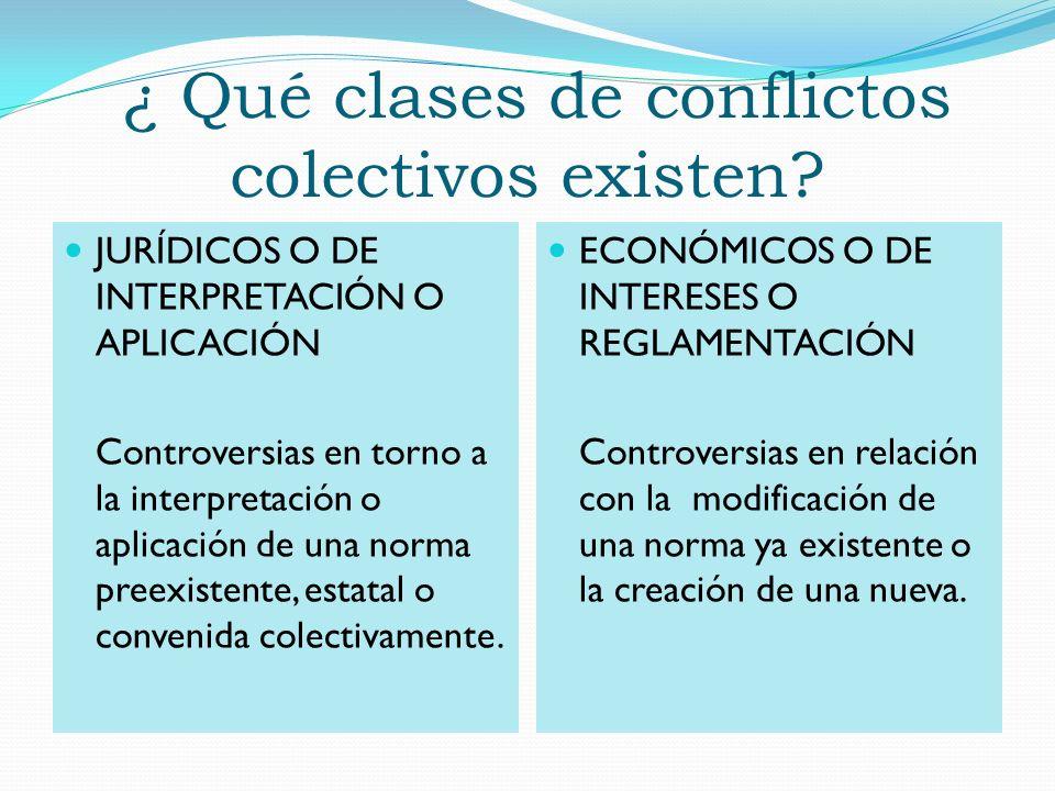 ¿ Qué clases de conflictos colectivos existen