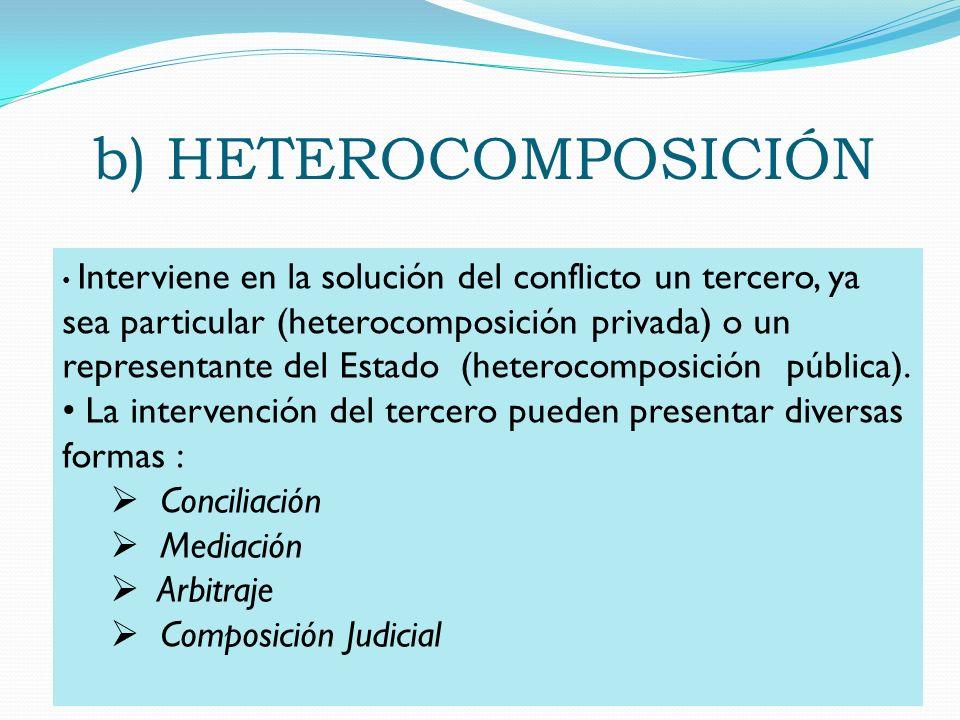 b) HETEROCOMPOSICIÓN