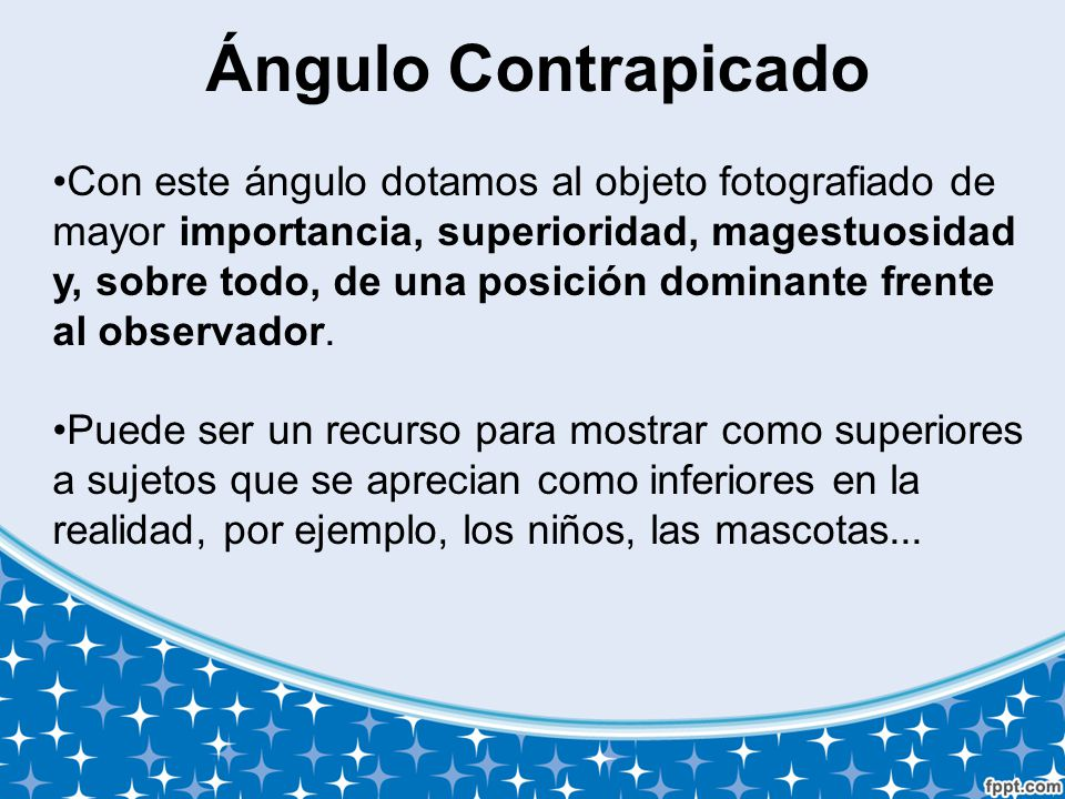 Ángulo Contrapicado