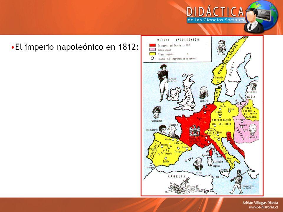 El imperio napoleónico en 1812:
