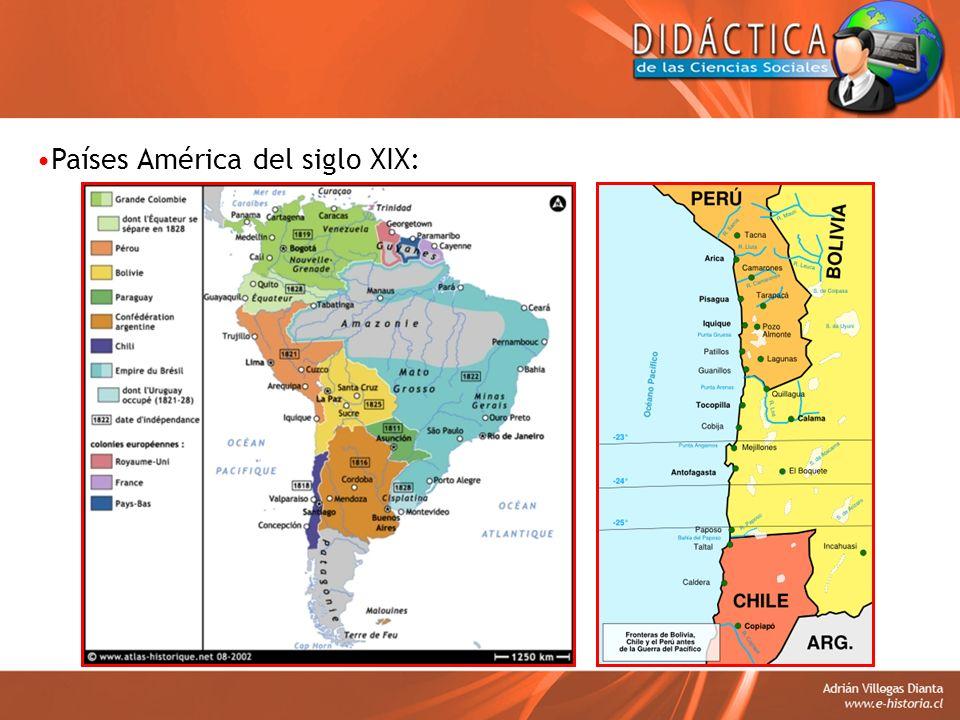 Países América del siglo XIX: