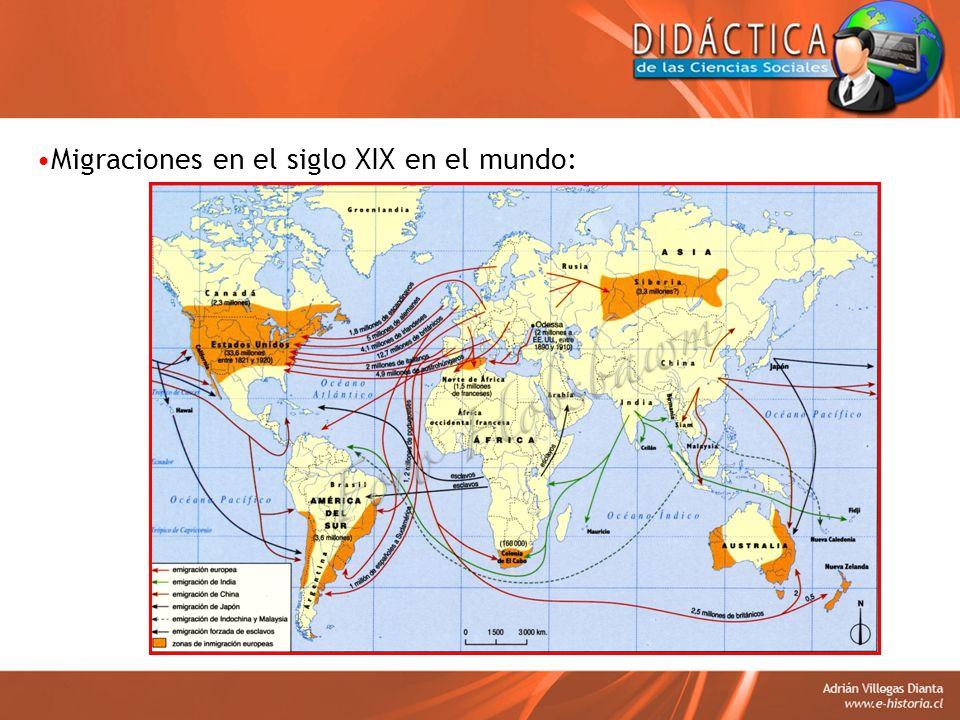 Migraciones en el siglo XIX en el mundo: