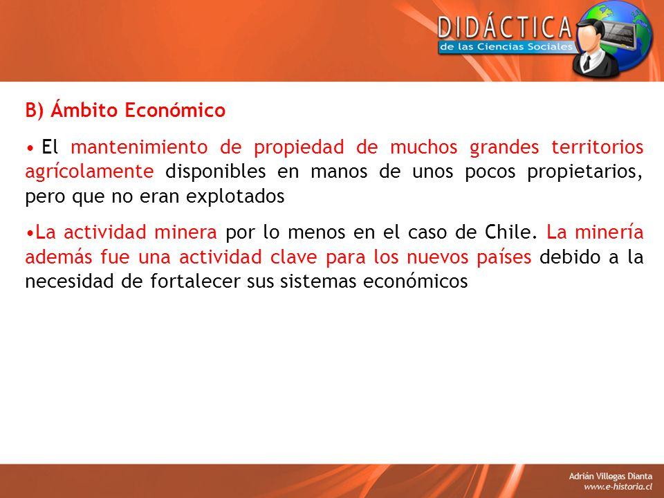 B) Ámbito Económico