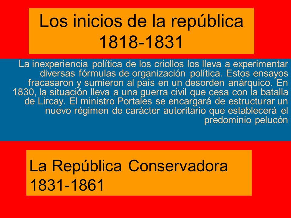 Los inicios de la república 1818-1831