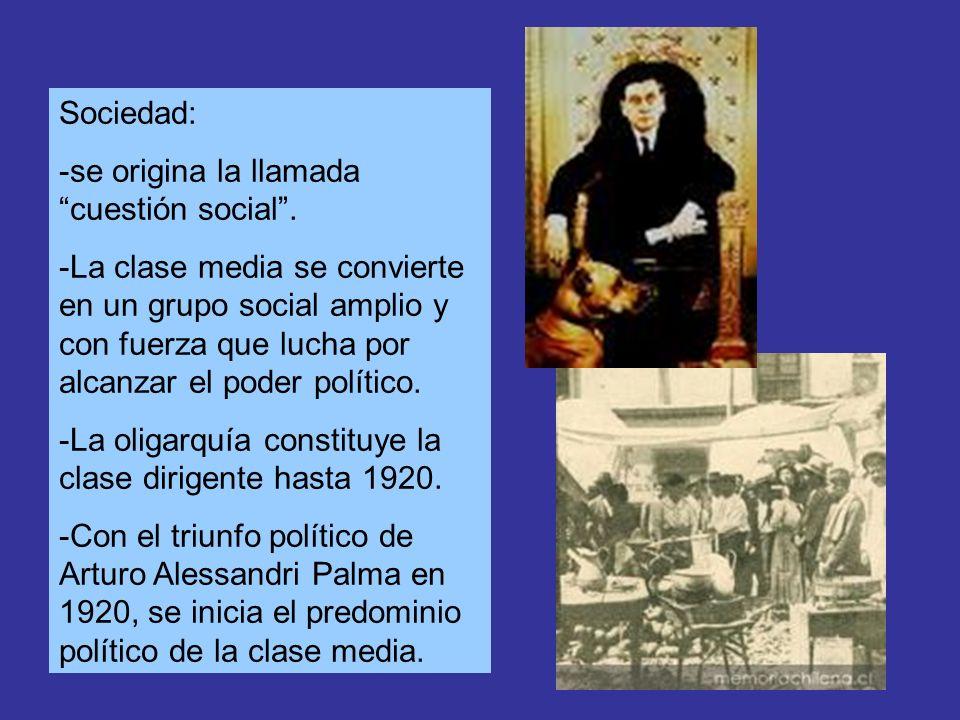 Sociedad: -se origina la llamada cuestión social .