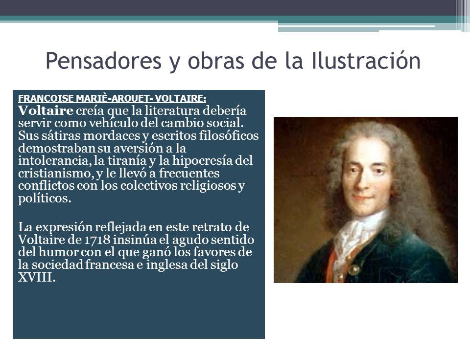 Pensadores y obras de la Ilustración