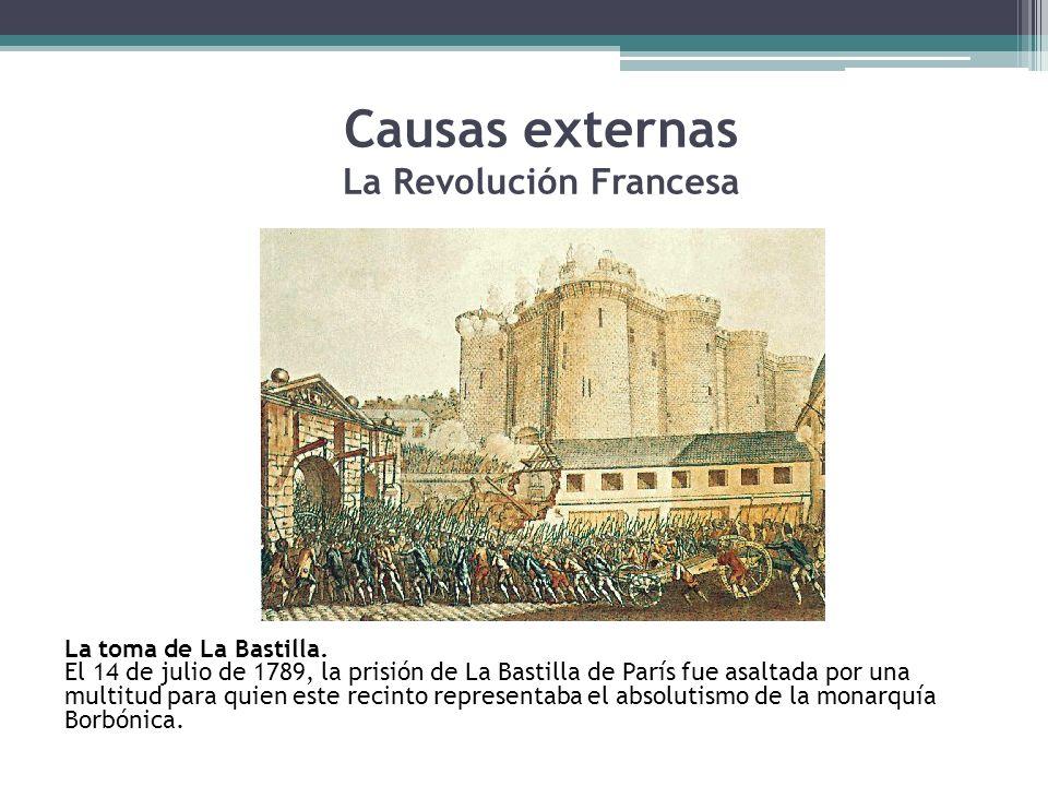 Causas externas La Revolución Francesa