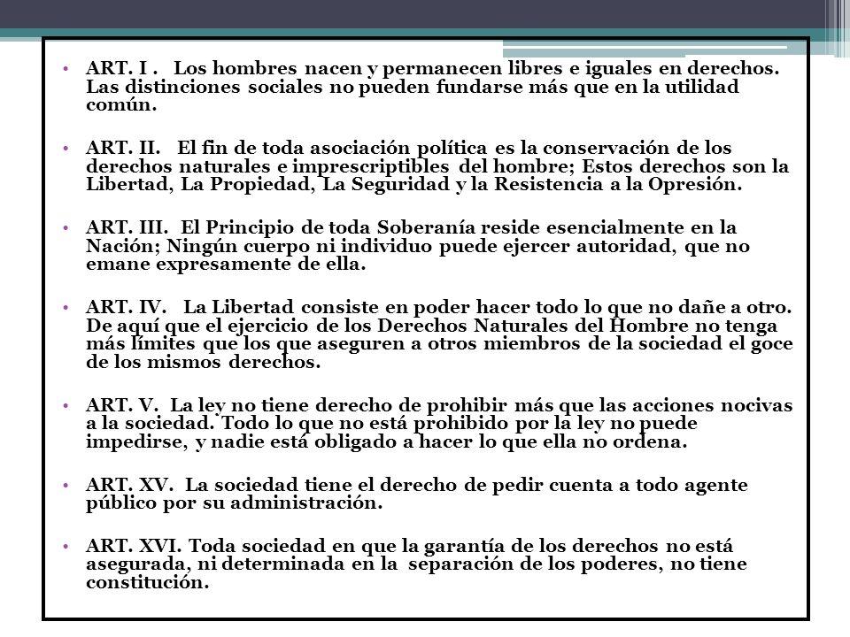 DECLARACIÒN DE LOS DERECHOS DEL HOMBRE Y DEL CIUDADANO