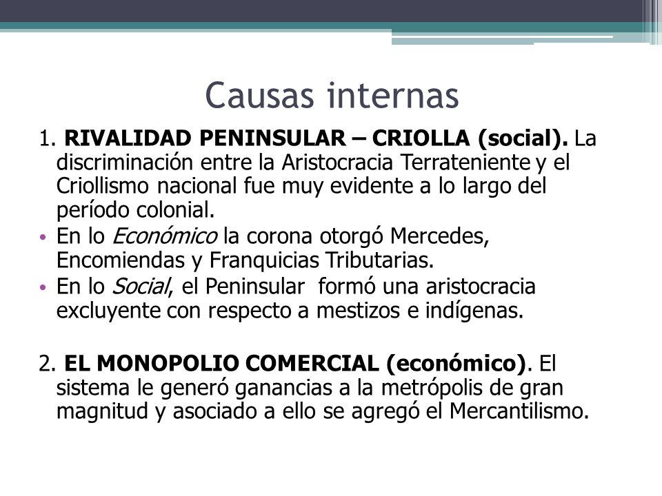 Causas internas