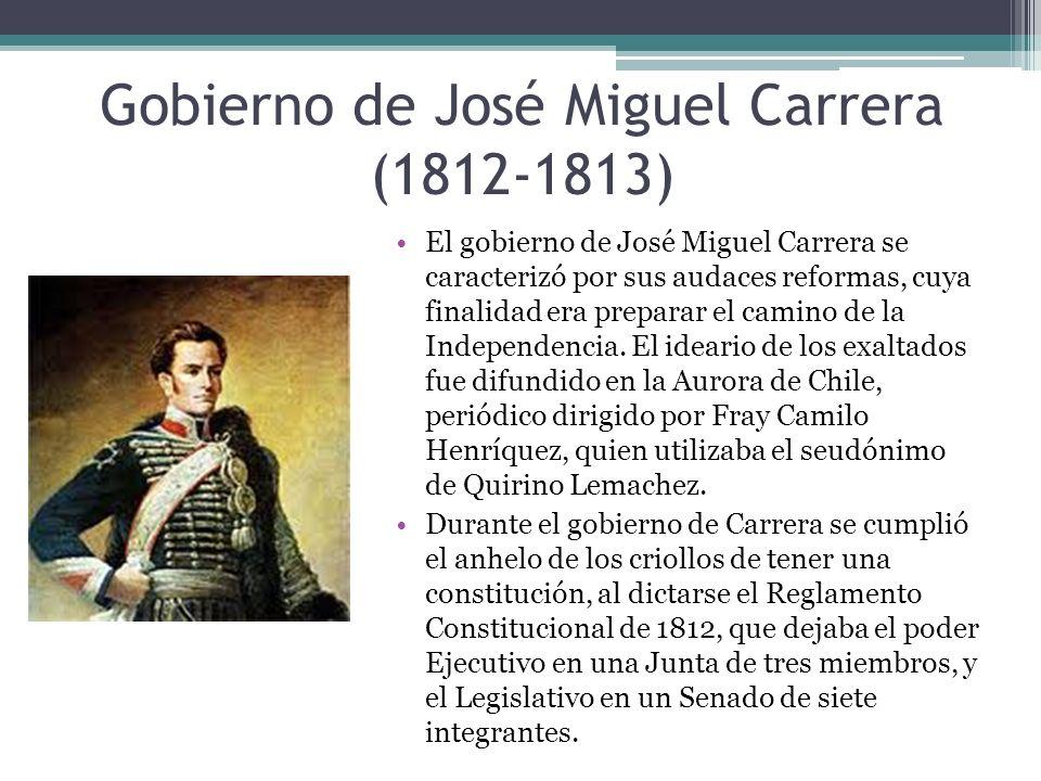 Gobierno de José Miguel Carrera (1812-1813)