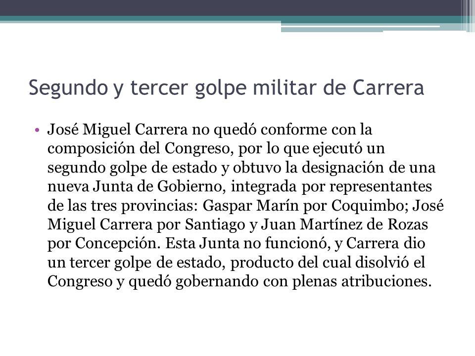Segundo y tercer golpe militar de Carrera