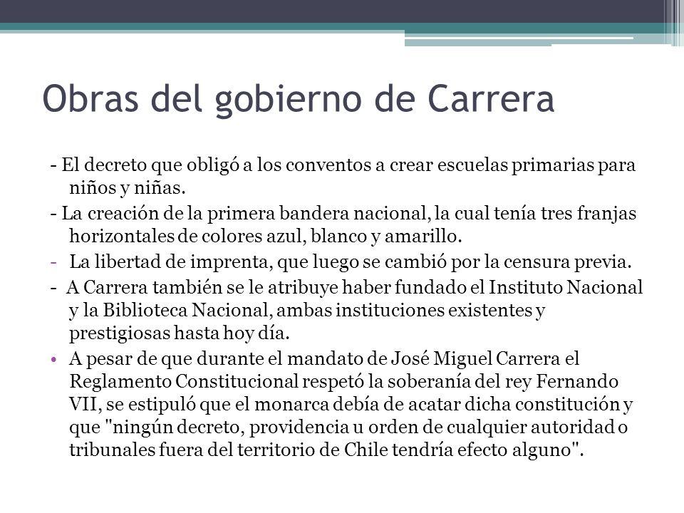 Obras del gobierno de Carrera