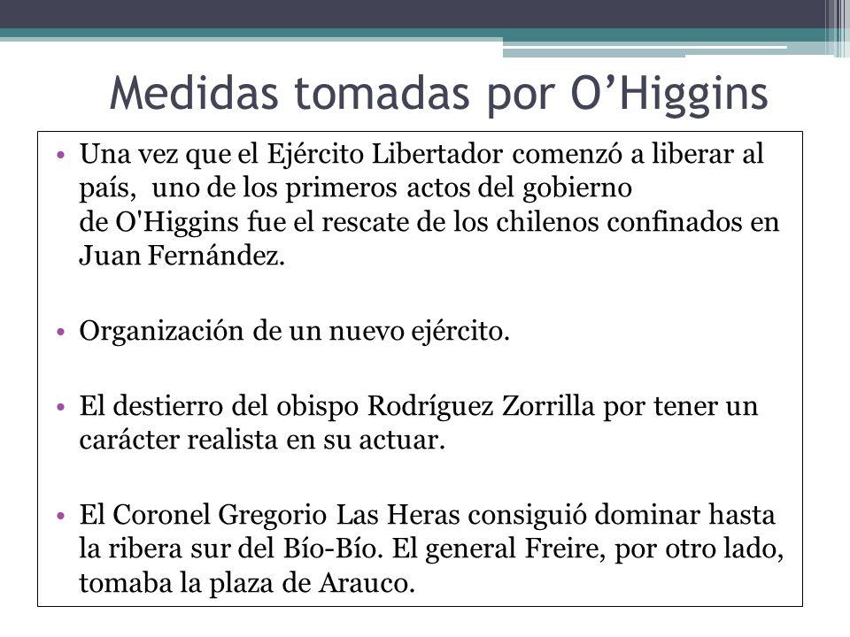 Medidas tomadas por O'Higgins