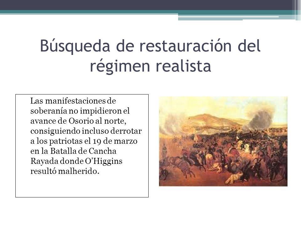 Búsqueda de restauración del régimen realista