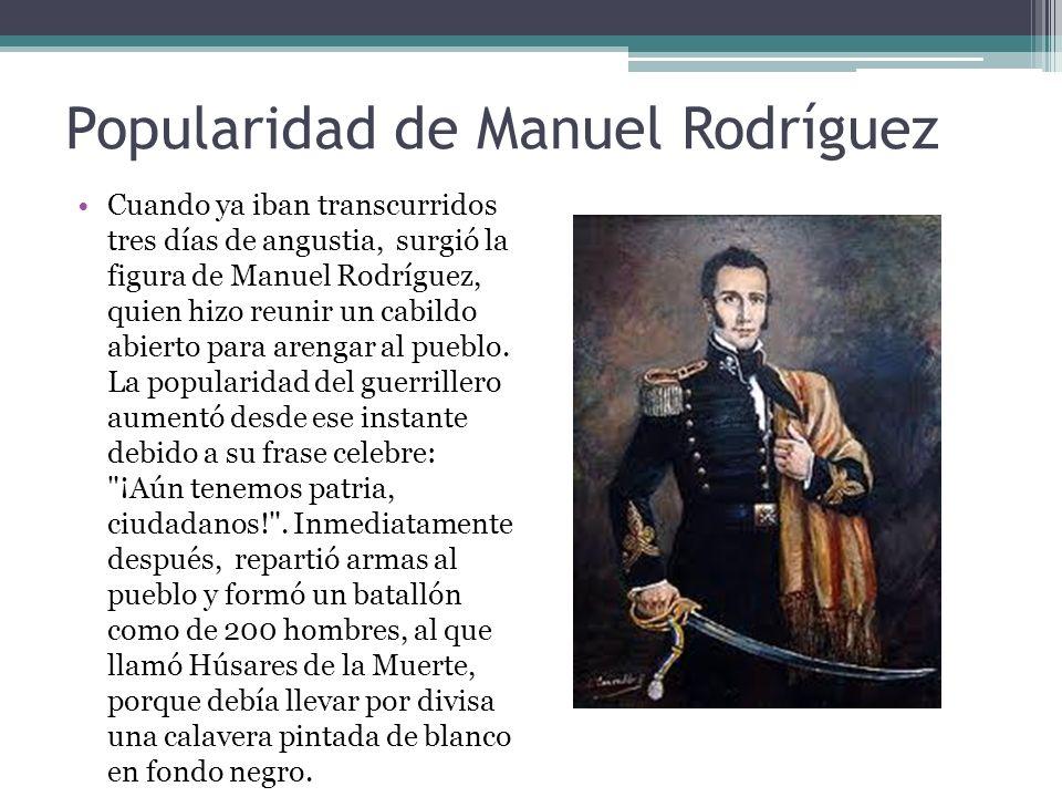 Popularidad de Manuel Rodríguez