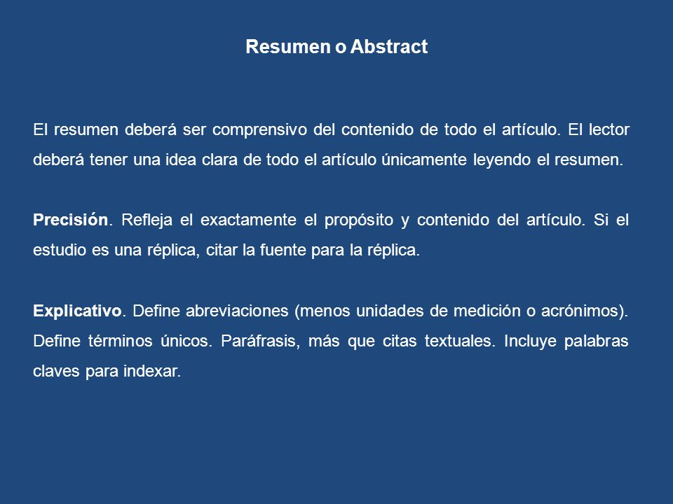 Resumen o Abstract