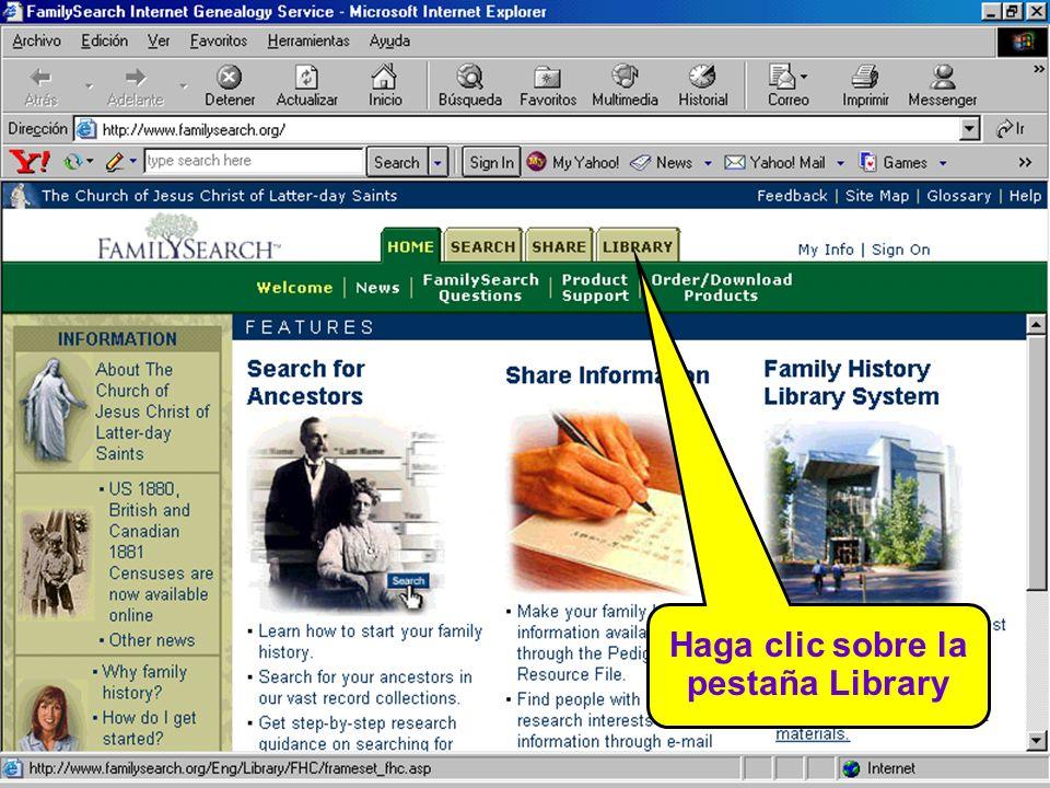 Haga clic sobre la pestaña Library