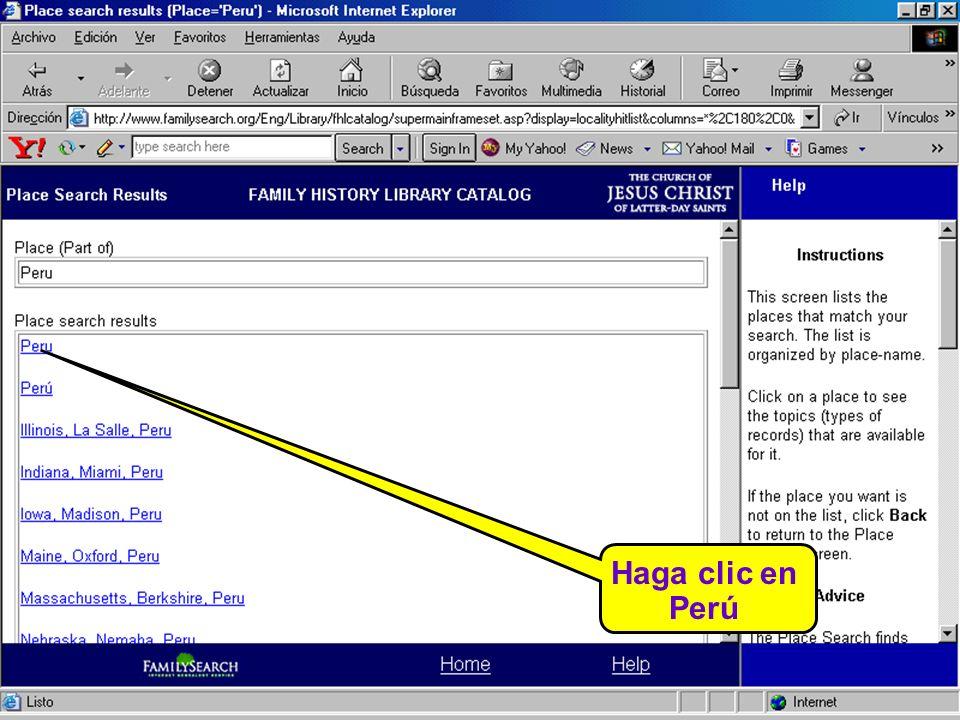 Haga clic en Perú