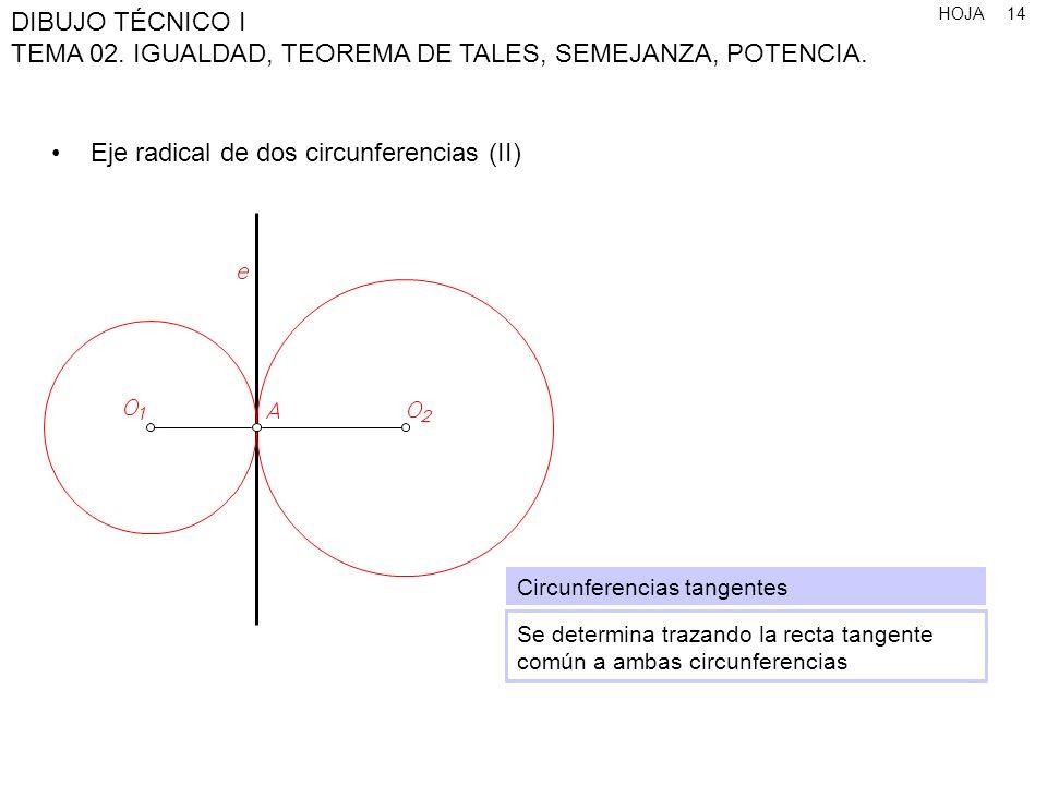 Eje radical de dos circunferencias (II)