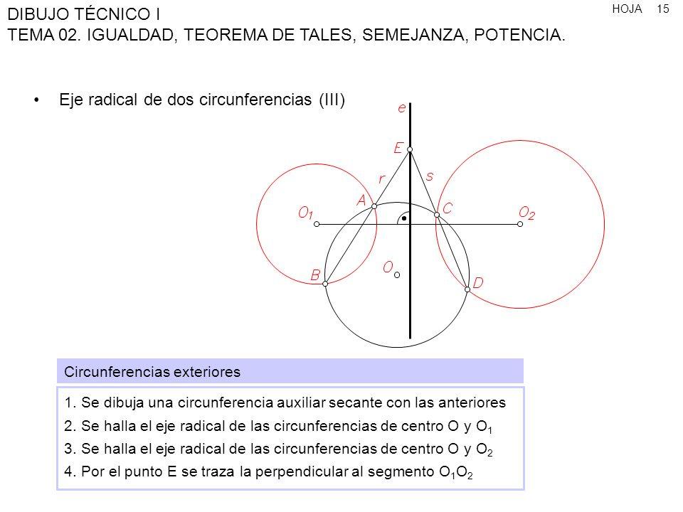 Eje radical de dos circunferencias (III)
