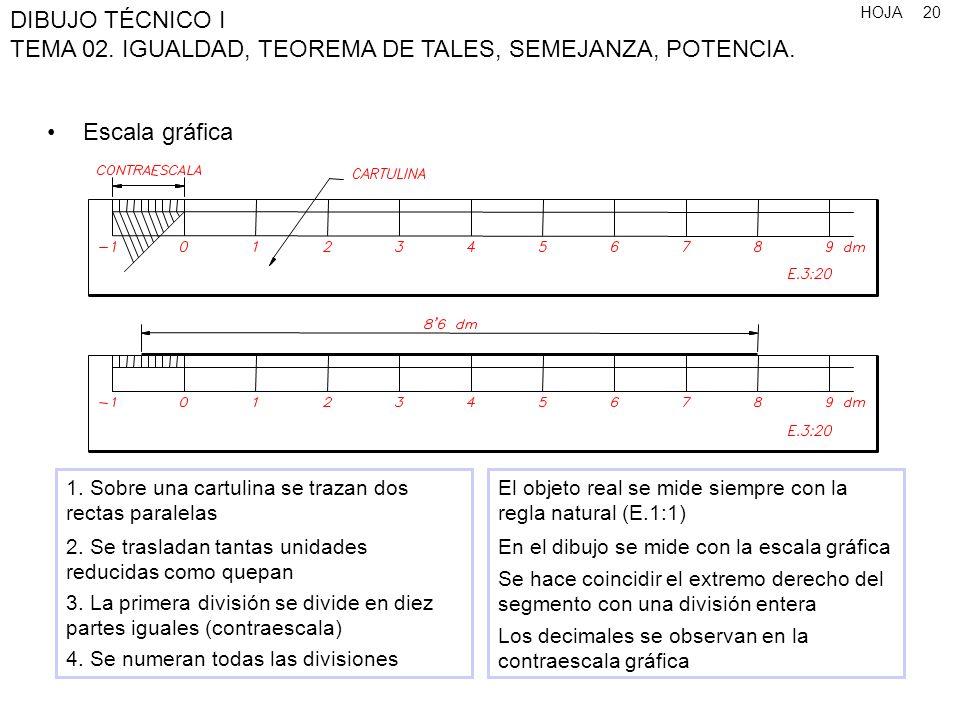 Escala gráfica 1. Sobre una cartulina se trazan dos rectas paralelas