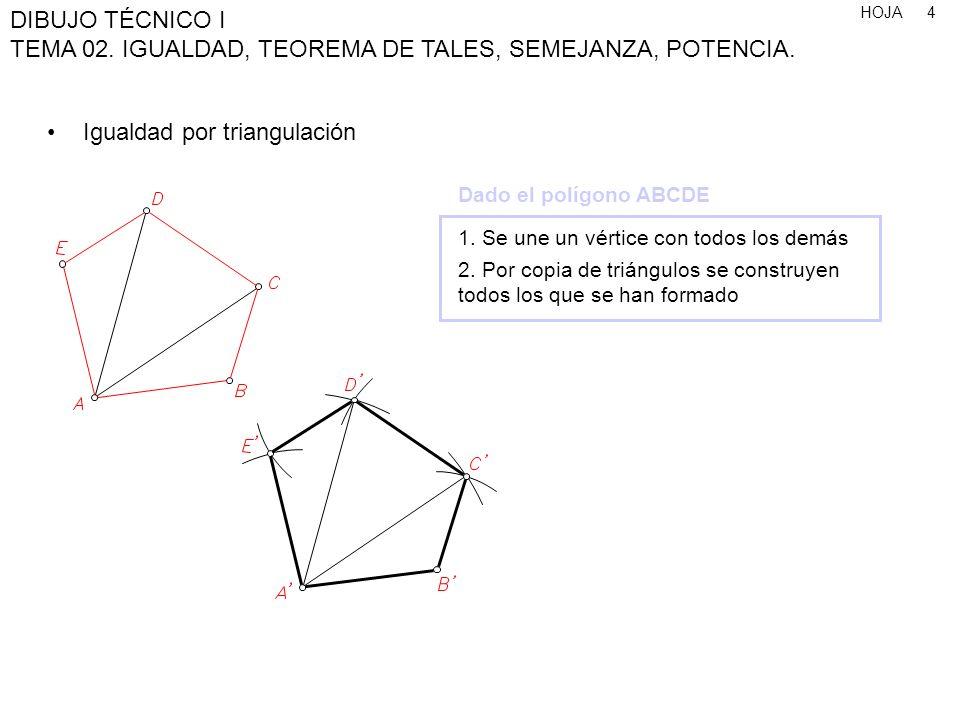 Igualdad por triangulación