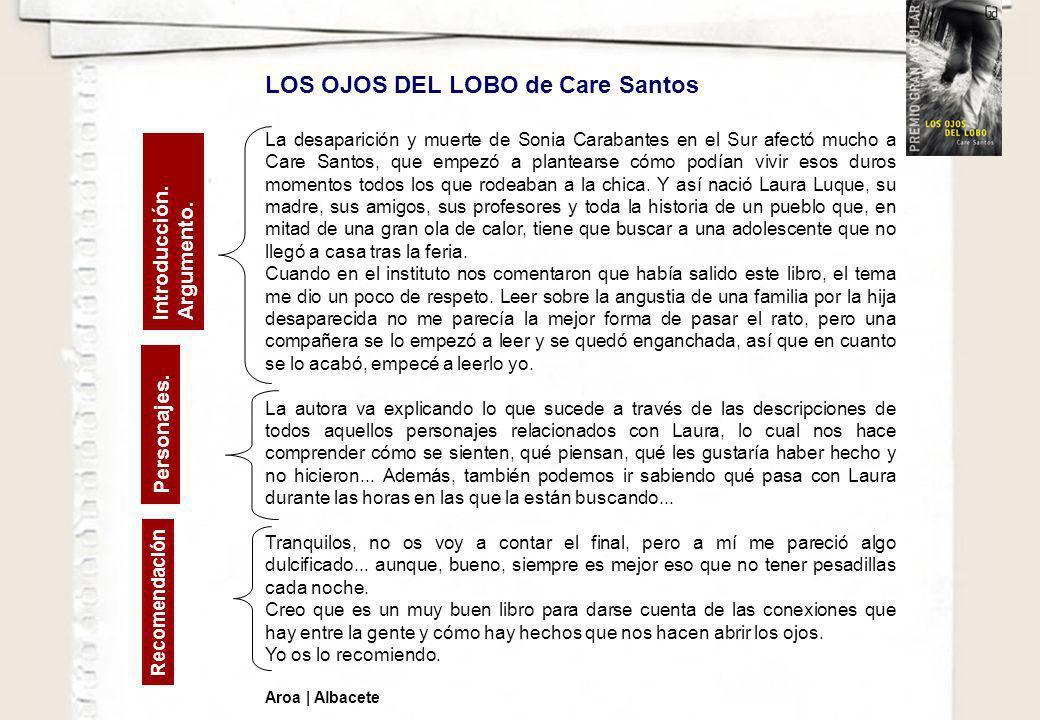 LOS OJOS DEL LOBO de Care Santos