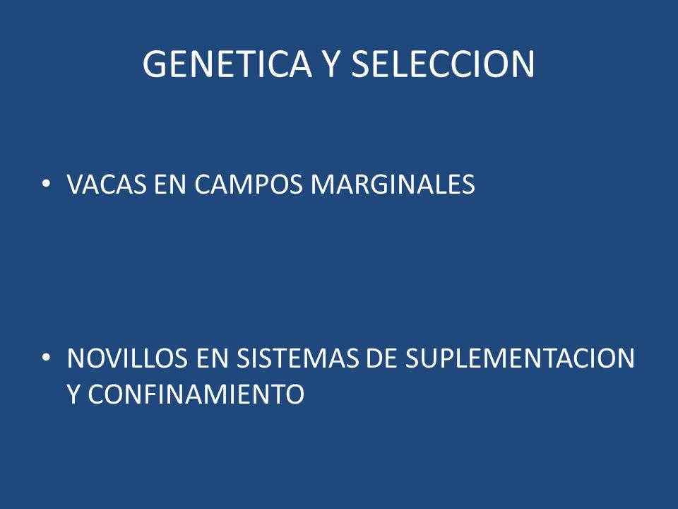 GENETICA Y SELECCION VACAS EN CAMPOS MARGINALES