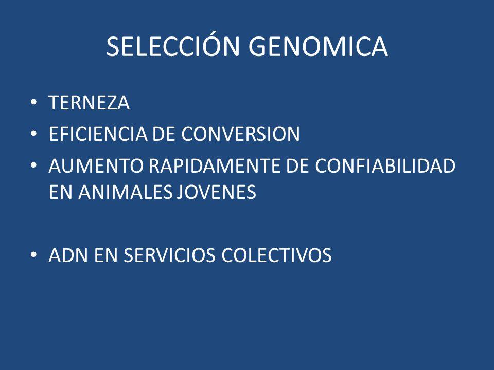 SELECCIÓN GENOMICA TERNEZA EFICIENCIA DE CONVERSION