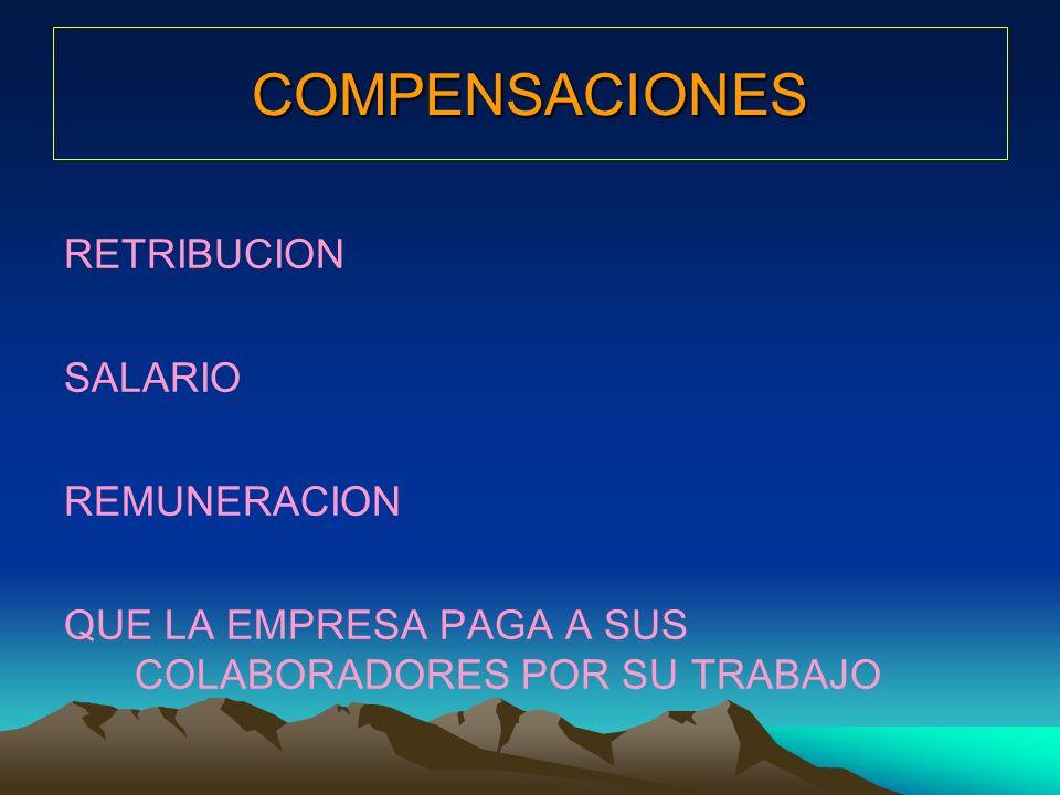 COMPENSACIONES RETRIBUCION SALARIO REMUNERACION