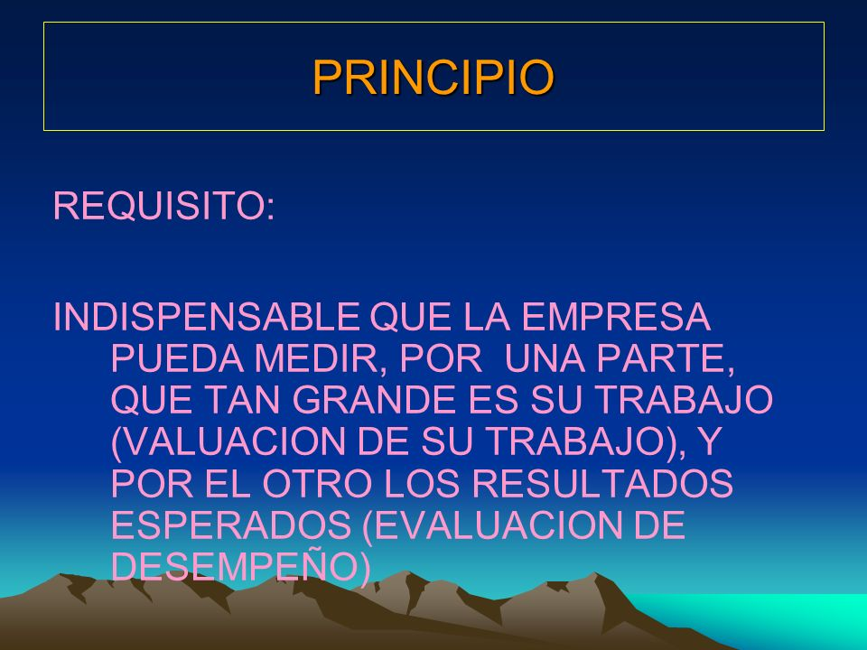 PRINCIPIO REQUISITO:
