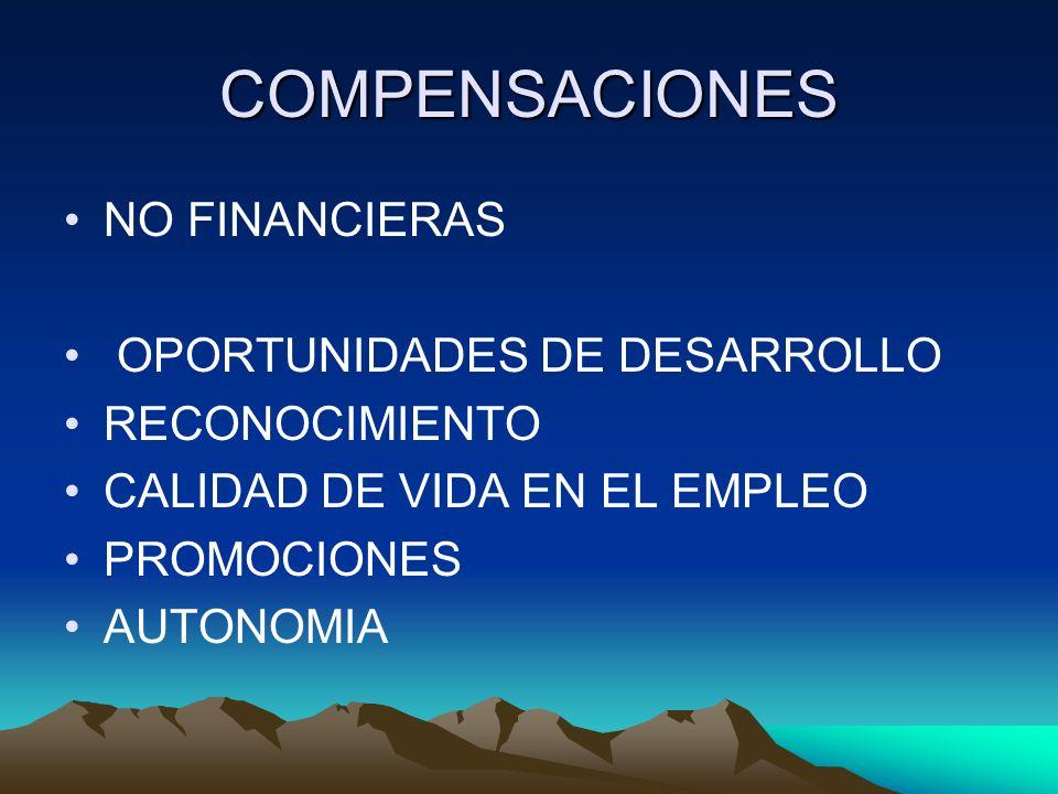 COMPENSACIONES NO FINANCIERAS OPORTUNIDADES DE DESARROLLO