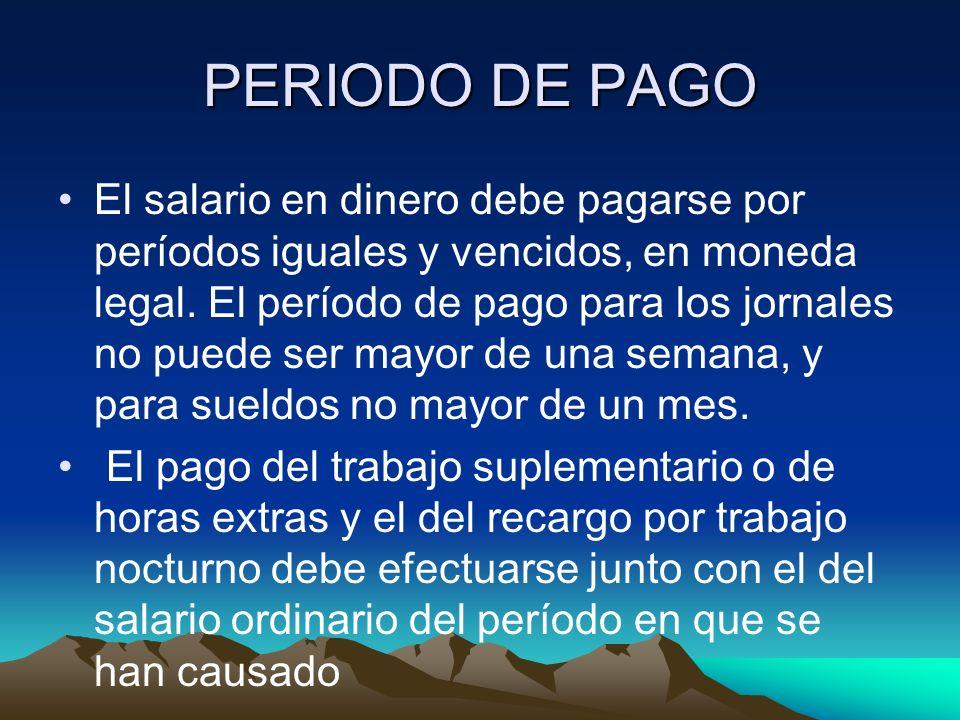 PERIODO DE PAGO