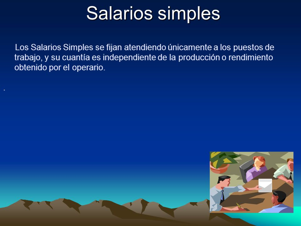 Salarios simples