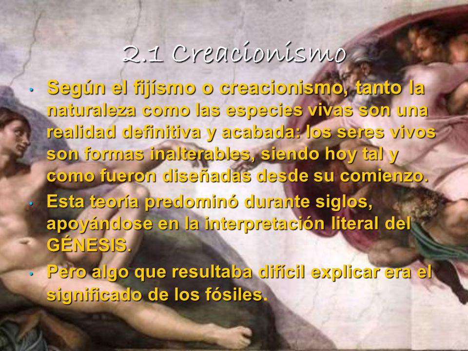 2.1 Creacionismo