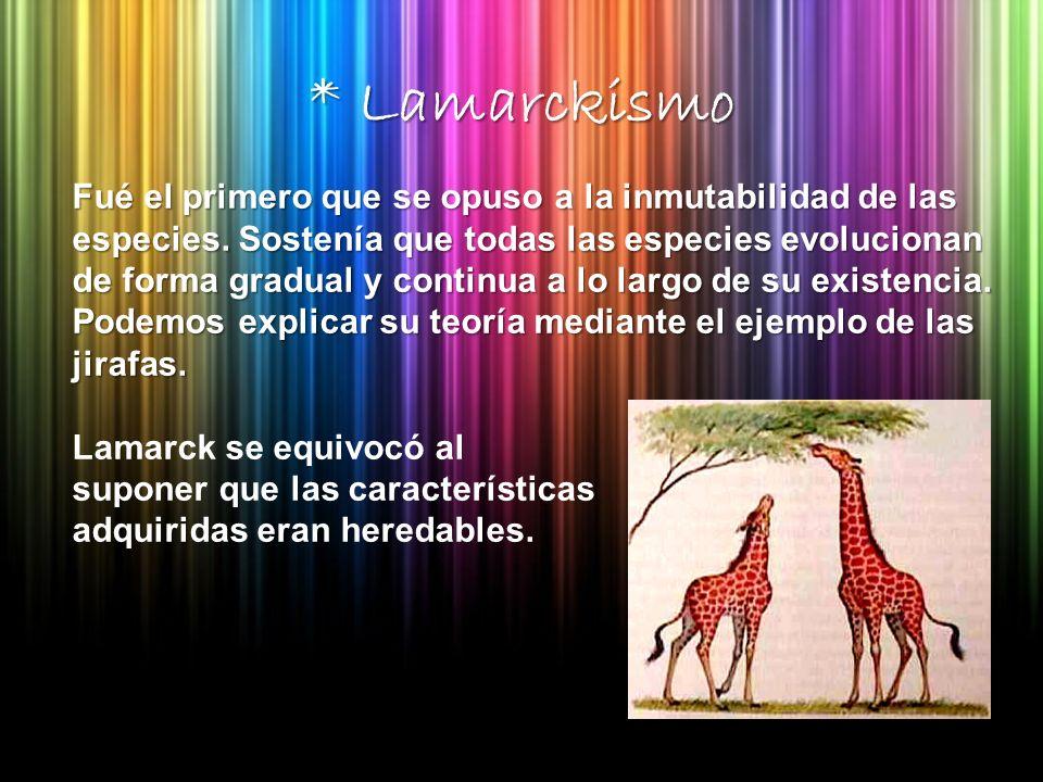 * Lamarckismo