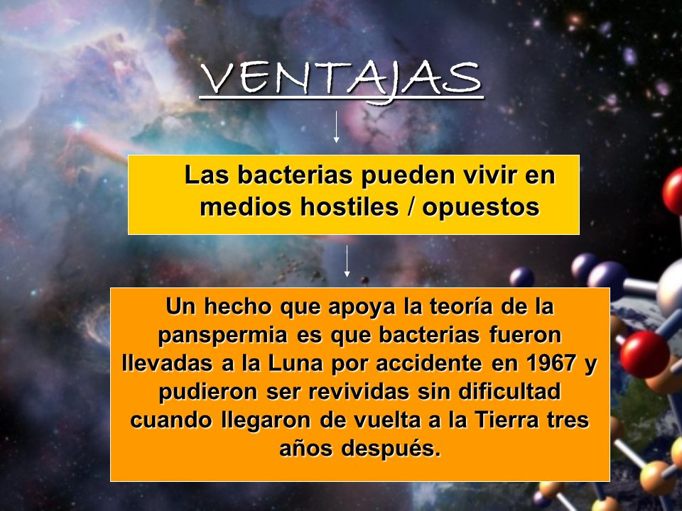 Las bacterias pueden vivir en medios hostiles / opuestos