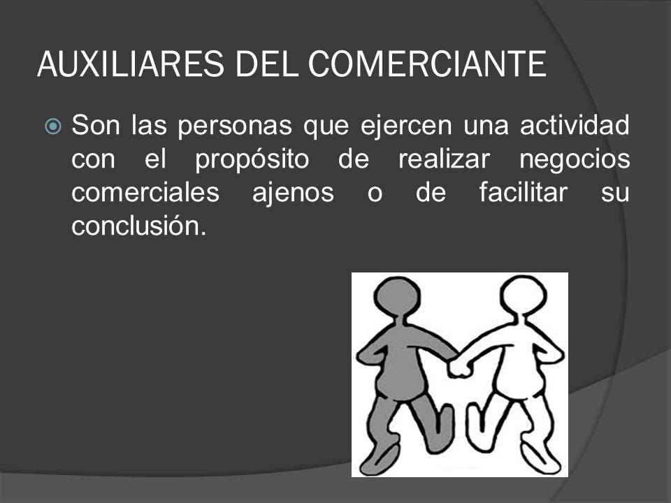 AUXILIARES DEL COMERCIANTE