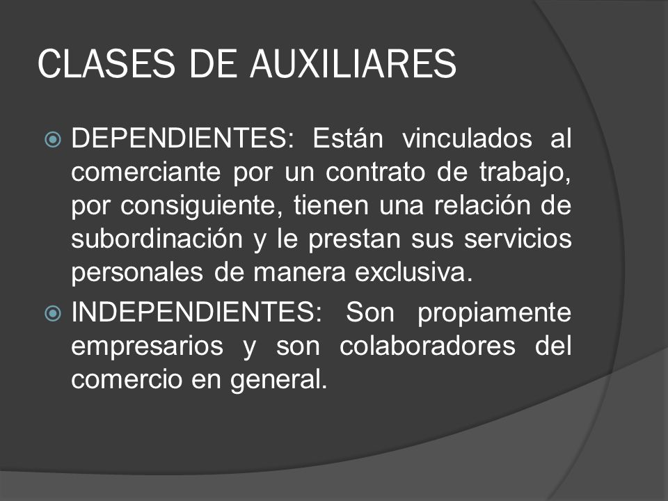 CLASES DE AUXILIARES