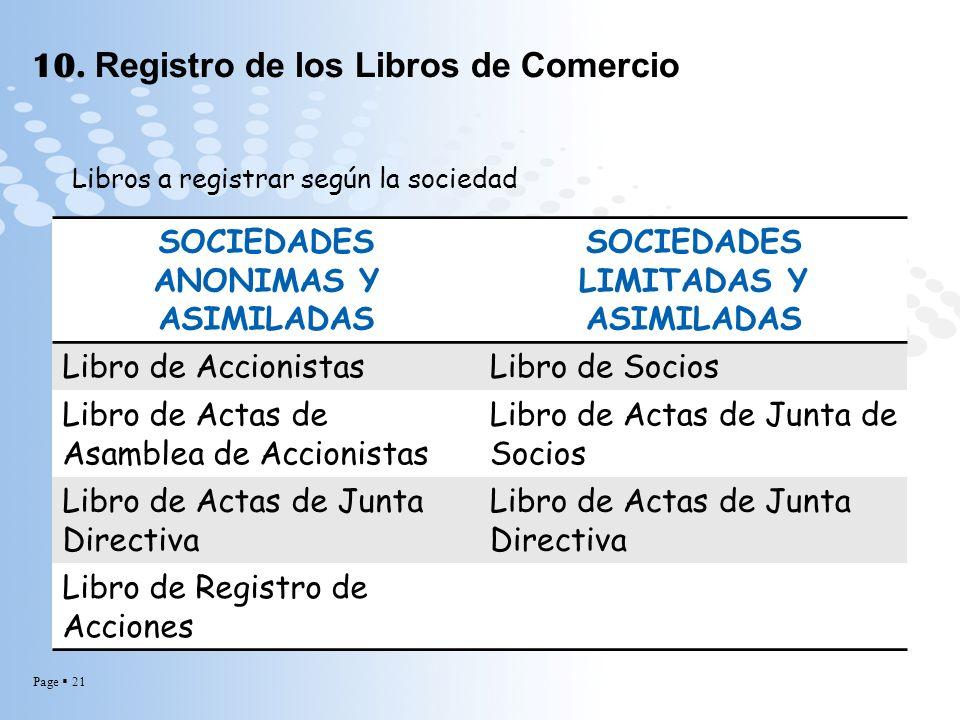 10. Registro de los Libros de Comercio