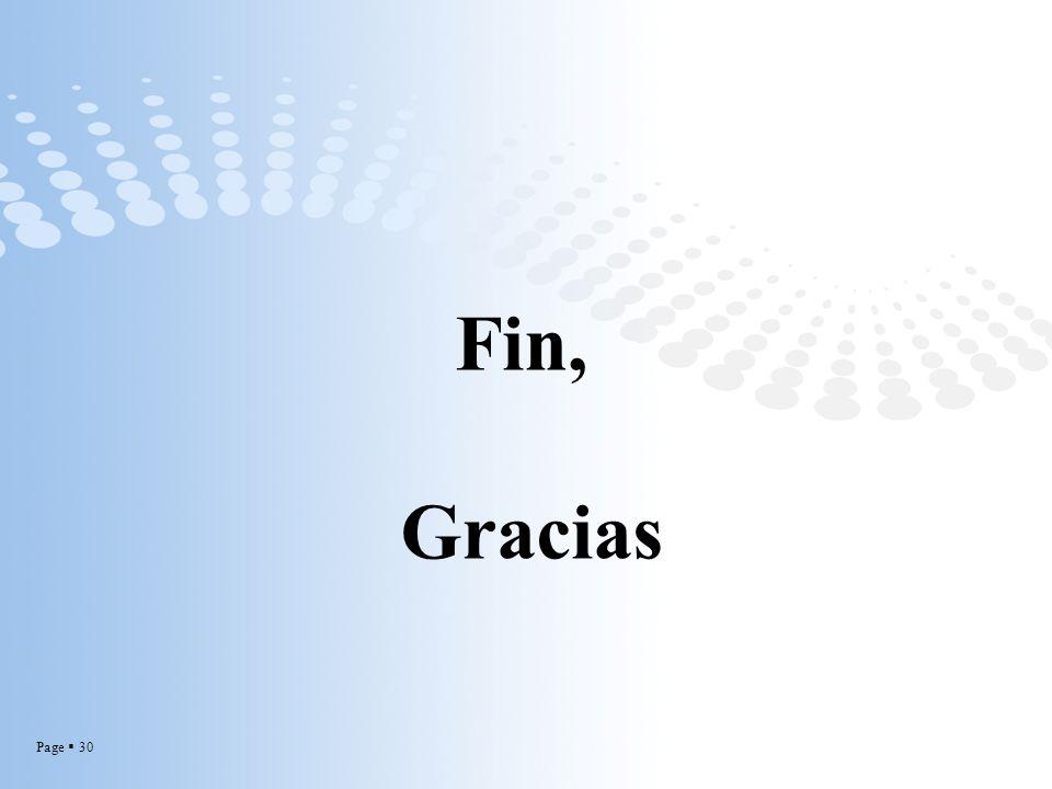 Fin, Gracias