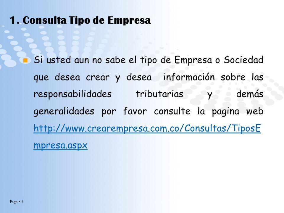 1. Consulta Tipo de Empresa