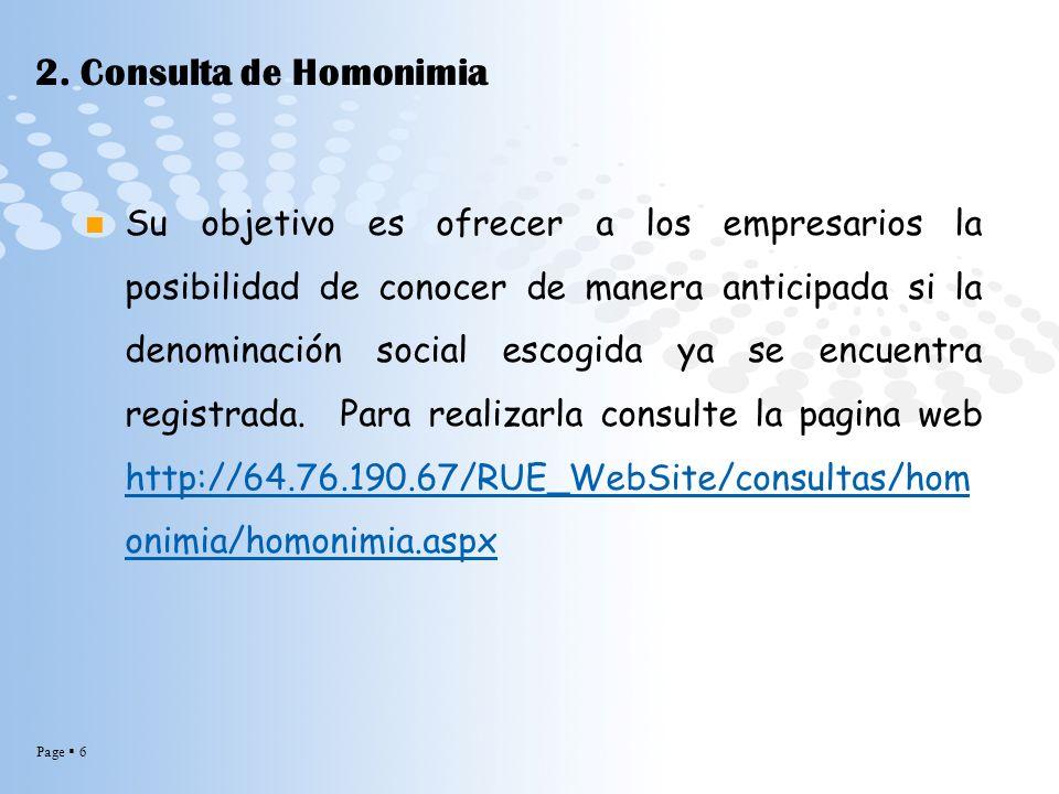 2. Consulta de Homonimia