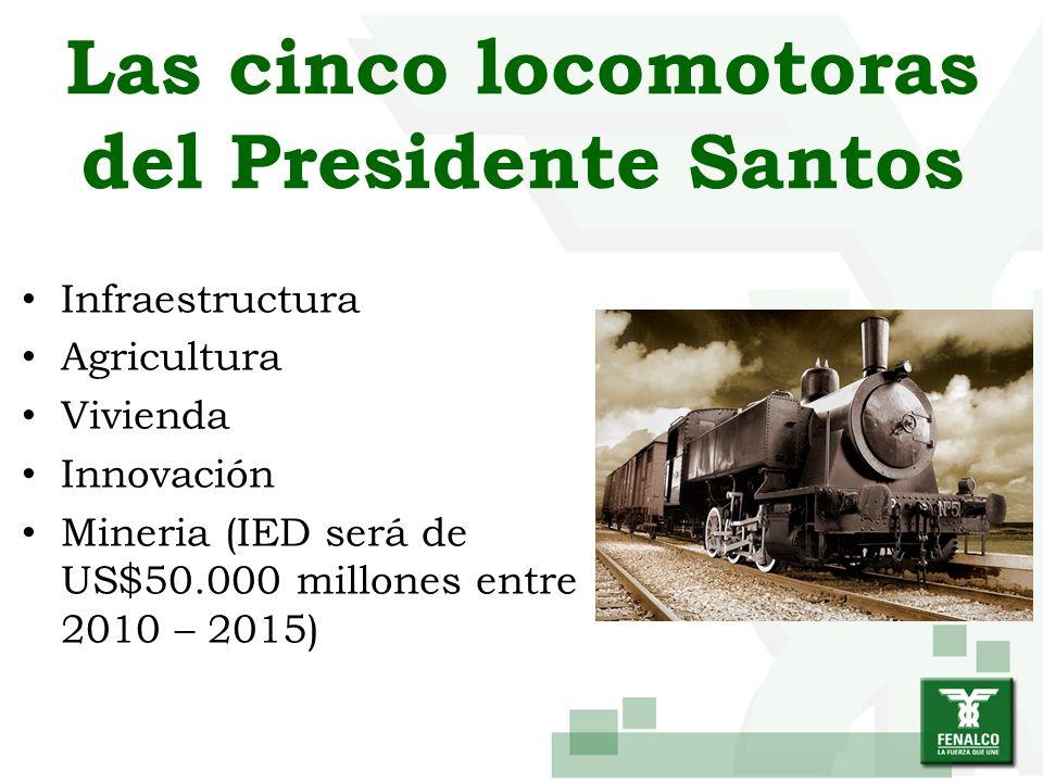 Las cinco locomotoras del Presidente Santos