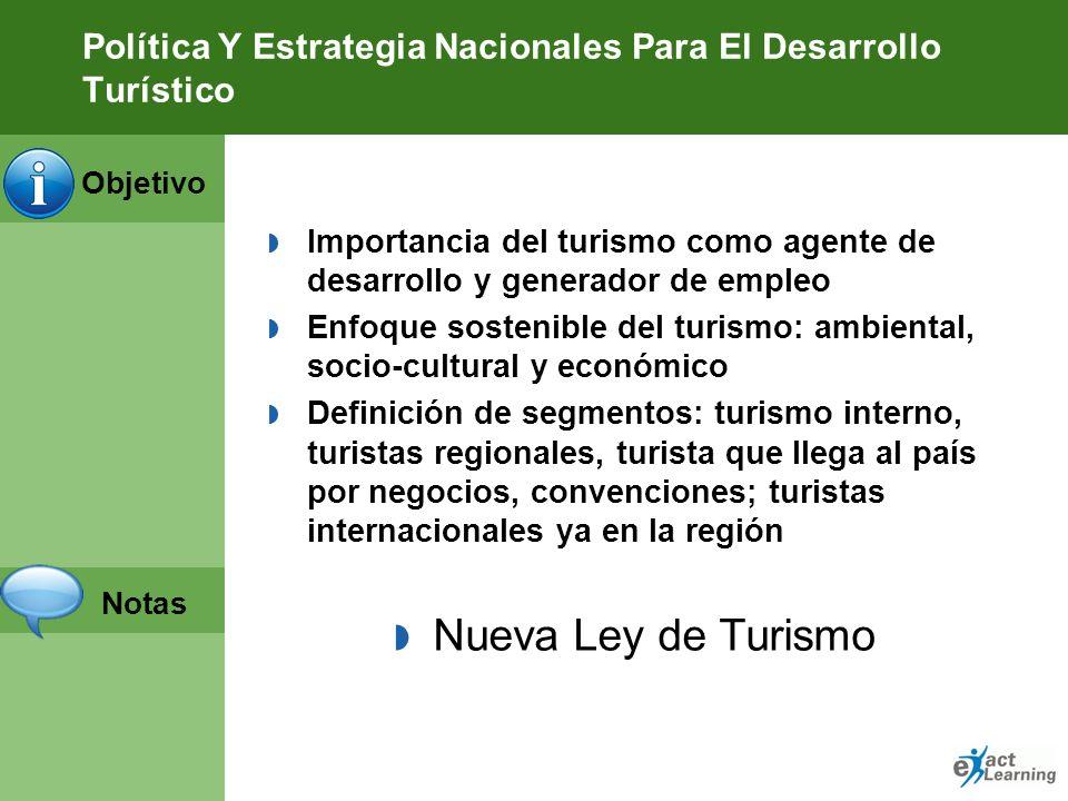 Política Y Estrategia Nacionales Para El Desarrollo Turístico